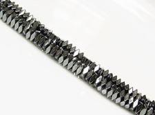 Image de 2x4 mm, perles cuboïdes, pierres gemmes, hématite