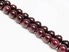 Picture of 8x8 mm, round, gemstone beads, garnet, natural, A-grade