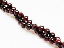 Picture of 6x6 mm, round, gemstone beads, garnet, natural, A-grade
