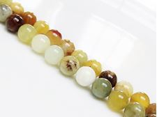 Picture of 8x8 mm, round, gemstone beads, Xiu jade, natural, A-grade