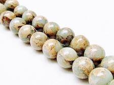 Image de 12x12 mm, perles rondes, pierres gemmes, jaspe impression, natural, qualité B