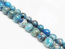 Afbeelding van 8x8 mm, rond, edelsteen kralen, impressie jaspis, blauw