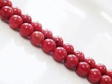 Image de 8x8 mm, perles rondes, pierres gemmes organiques, corail d'éponge, rouge
