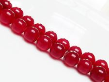 Picture of 10x10 mm, round, gemstone beads, jade, red, A-grade