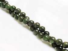 Picture of 6x6 mm, round, gemstone beads, Canadian jade, nephrite, natural