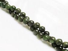 Image de 6x6 mm, perles rondes, pierres gemmes, jade canadien, néphrite, naturel