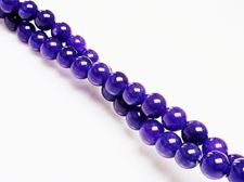 Picture of 6x6 mm, round, gemstone beads, jade, purple, A-grade