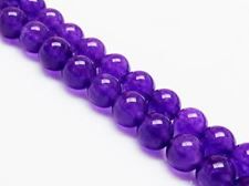 Picture of 8x8 mm, round, gemstone beads, jade, purple, A-grade