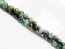 Picture of 4x4 mm, round, gemstone beads, African turquoise, natural