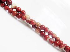 Image de 4x4 mm, perles rondes, pierres gemmes, jaspe pavot nouveau, naturel