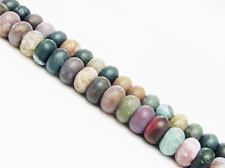 Picture of 5x8 mm, rondelle, gemstone beads, Fancy jasper, natural, frosted