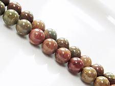 Picture of 8x8 mm, round, gemstone beads, riband jasper, natural