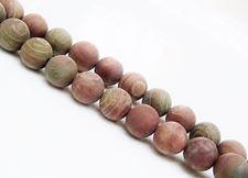 Image de 8x8 mm, perles rondes, pierres gemmes, jaspe rubané, naturel, dépoli
