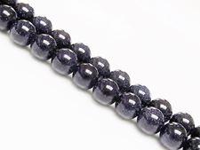 Image de 8x8 mm, perles rondes, pierres gemmes, rivière d'or, bleu nuit