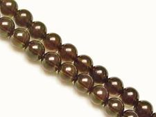Picture of 6x6 mm, round, gemstone beads, smoky quartz, natural, A-grade