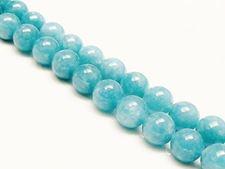 Picture of 10x10 mm, round, gemstone beads, sponge quartz, sinbad blue