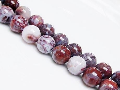 Picture of 10x10 mm, round, gemstone beads, pietersite, red, natural