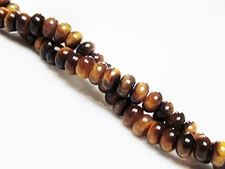 Picture of 4x6 mm, rondelle, gemstone beads, tiger eye, natural, A-grade