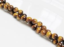 Picture of 6x6 mm, round, gemstone beads, tiger eye, natural, A-grade