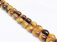 Picture of 6x8 mm, rice, gemstone beads, tiger eye, natural, A-grade