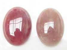 Picture of 13x18 mm, oval, gemstone cabochons, ruby quartz, natural