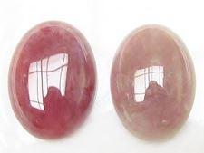Image de 13x18 mm, ovale, cabochons de pierres gemmes, quartz rubis, naturel