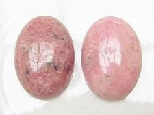 Picture of 13x18 mm, oval, gemstone cabochons, rhodonite, natural