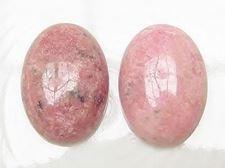 Image de 13x18 mm, ovale, cabochons de pierres gemmes, rhodonite, naturelle