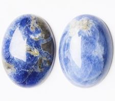 Picture of 13x18 mm, oval, gemstone cabochons, sodalite, natural
