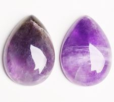 Picture of 18x25 mm, drop, gemstone cabochons, amethyst, natural