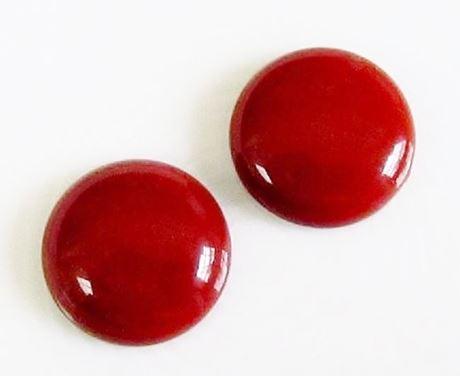 Image de 20x20 mm, rond, cabochons de pierres gemmes, jaspe rouge, naturel