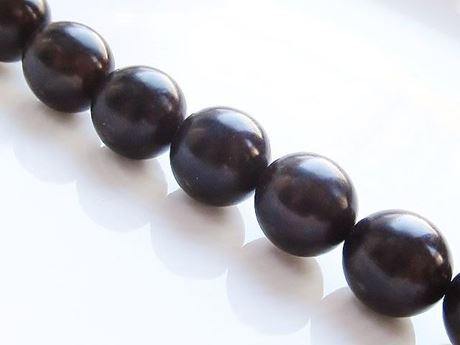 Picture of  12x12 mm, round, organic beads, corypha nut, deep brown, natural