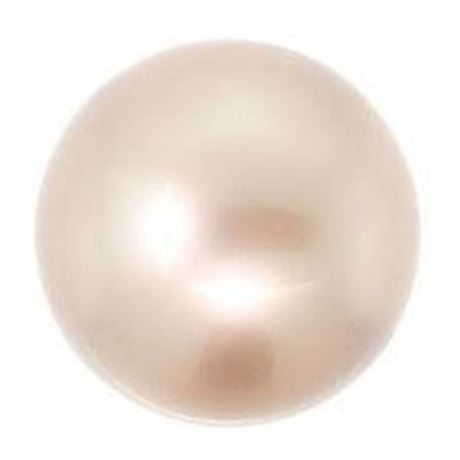 Picture of 8x8 mm, round Swarovski® Crystal beads, pearlized, powder almond or warm off-white beige