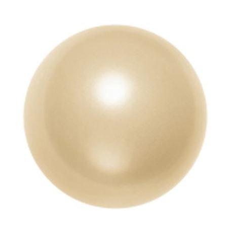 Afbeelding van 12x12 mm, ronde Swarovski® kristal kralen, pareleffect, licht gouden kleur