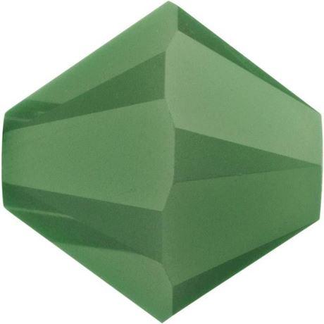 Afbeelding van 4 mm, Xilion bicone Swarovski® kristal kralen,  paleis opaal groen