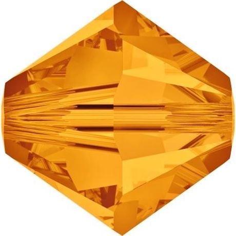 Afbeelding van 8 mm, Xilion bicone Swarovski® kristal kralen, topaas geel