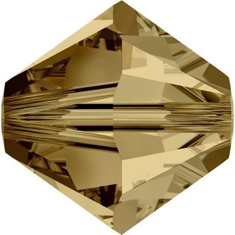 Afbeelding van 4 mm, Xilion bicone Swarovski® kristal kralen, licht Colorado topaas bruin