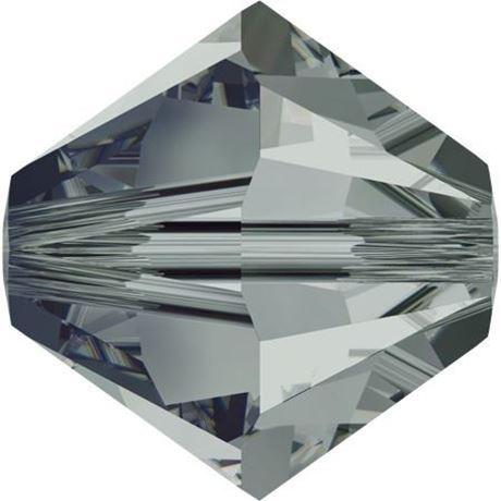 Picture of 4 mm, Xilion bicone Swarovski® Crystal beads, diamond black