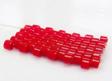 Image de Perles Delica DB0723, taille 11/0, rouge canneberge vif, opaque