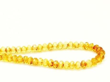 Afbeelding van 3x5 mm, Tsjechische facet rondel kralen, citroen geel, doorschijnend, picasso
