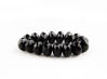 Picture of 4x7 mm, Czech faceted rondelle beads, black, opaque
