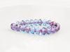 Image de 3x5 mm, perles à facettes tchèques rondelles, bleu turquoise, transparent, lustré bronze rouille