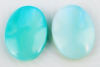 Picture of 13x18 mm, oval, organic gemstone cabochons, seashell, turquoise