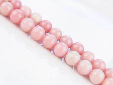 Picture of 8x8 mm, round, gemstone beads, common opal, pink, natural