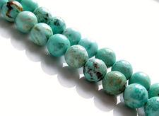 Image de 8x8 mm, perles rondes, pierres gemmes, turquoise péruvienne, naturelle