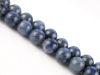 Image de 10x10 mm, perles rondes, pierres gemmes,  dumortiérite, naturelle, qualité A