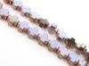 Image de 4x4 mm, perles en croix grecque, pierre gemme, hématite, métallisée brun rouge