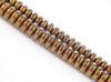 Afbeelding van 3x6 mm, convexe rondellen, edelsteen kralen, hematiet, roodbruin gemetalliseerd