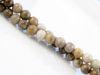 Picture of 6x6 mm, round, gemstone beads, new silver leaf jasper, beige, natural