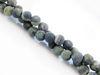 Image de 6x6 mm, perles rondes, pierres gemmes, jaspe crocodile ou jaspe Kambamba, naturel, dépoli
